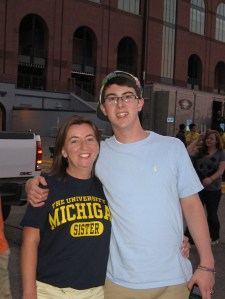 One Proud Sister & One Excited Wolverine!