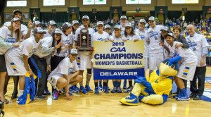 Back to Back CAA Champion University of Delaware Lady Fighting Blue Hens!
