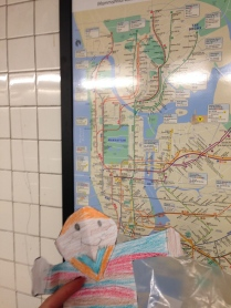 Stanley trying to master the subway map