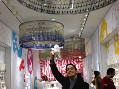 Stanley at the Swatch store on Madison Ave!